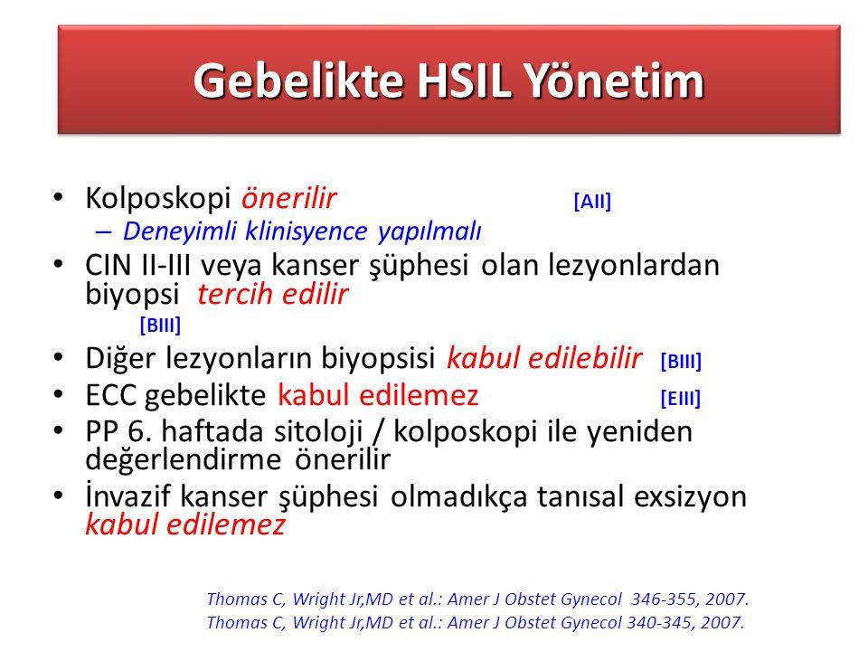 Gebelikte HSIL Yönetim