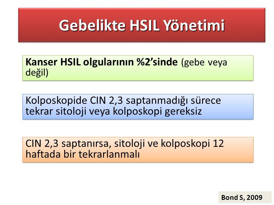 Gebelikte HSIL Yönetimi