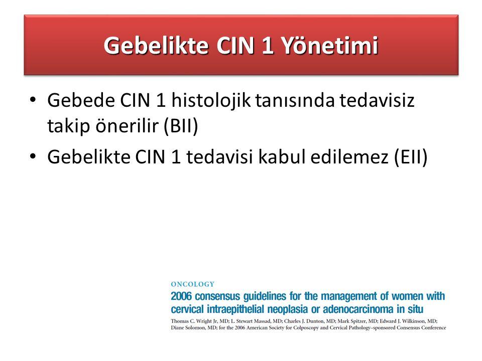 Gebelikte CIN 1 Yönetimi