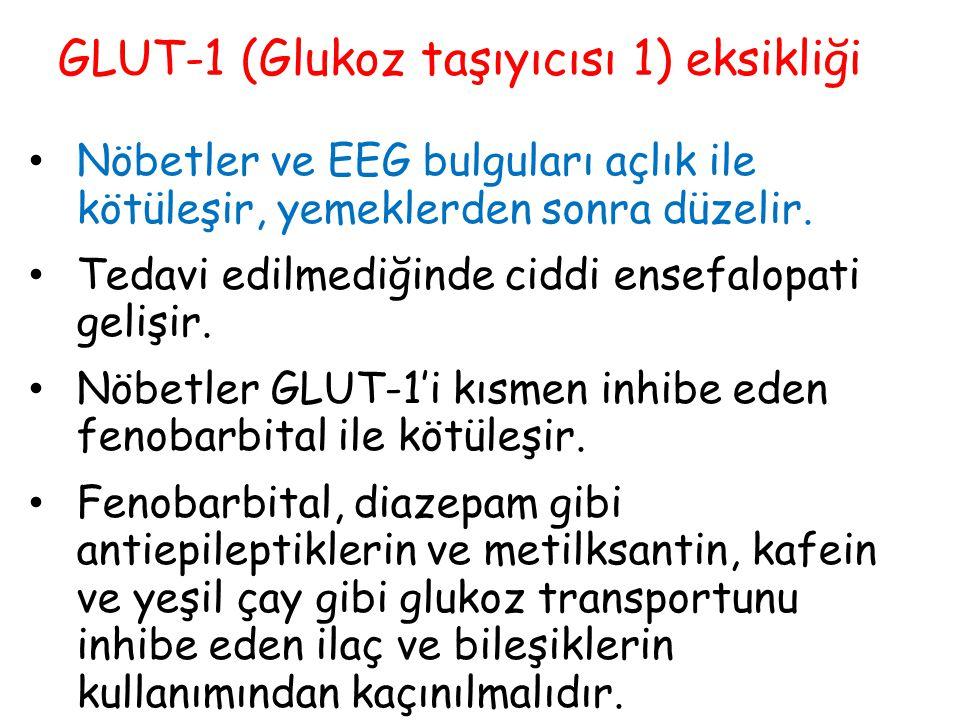 GLUT-1 (Glukoz taşıyıcısı 1) eksikliği