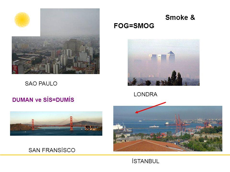 Smoke & FOG=SMOG SAO PAULO LONDRA DUMAN ve SİS=DUMİS SAN FRANSİSCO