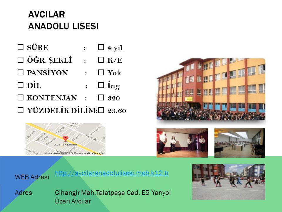 AVCILAR Anadolu Lisesi