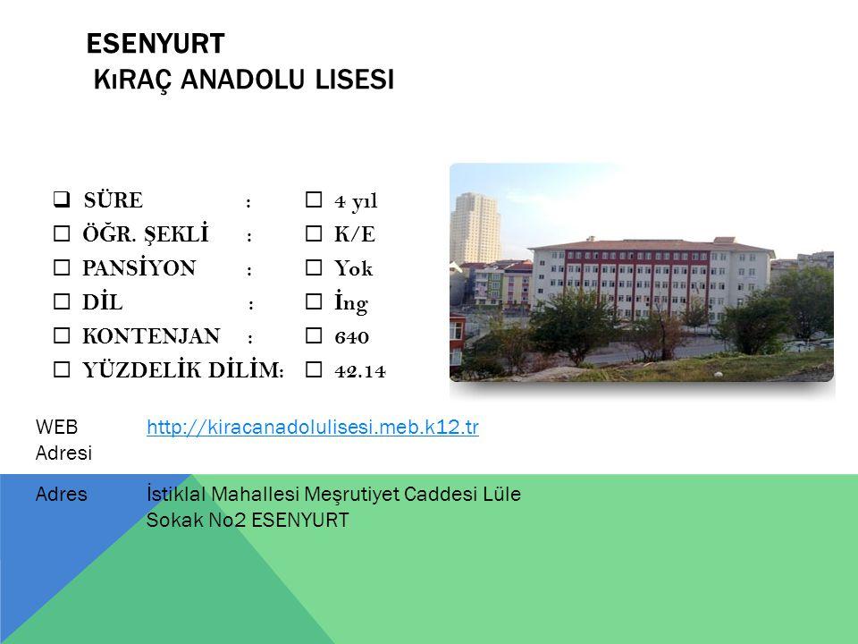 ESENYURT Kıraç Anadolu Lisesi