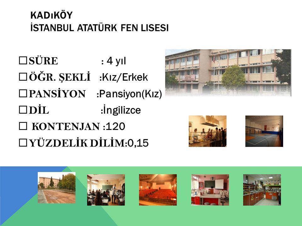 Kadıköy İstanbul Atatürk Fen Lisesi