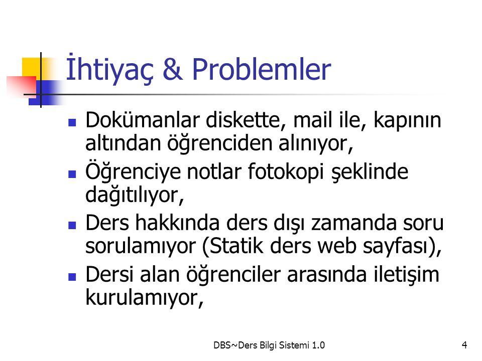 DBS~Ders Bilgi Sistemi 1.0