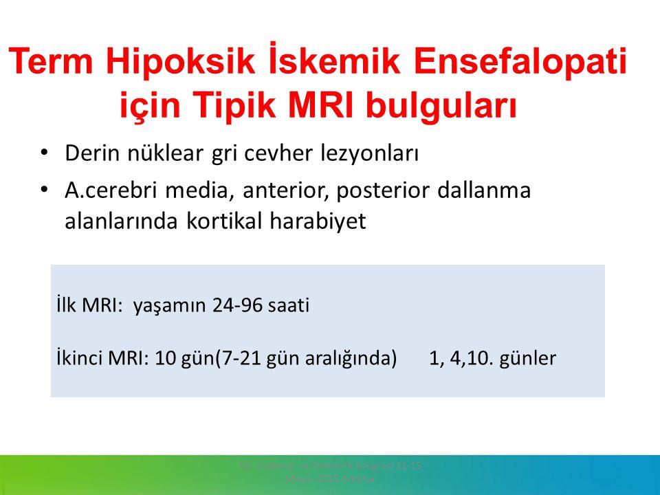 Term Hipoksik İskemik Ensefalopati için Tipik MRI bulguları