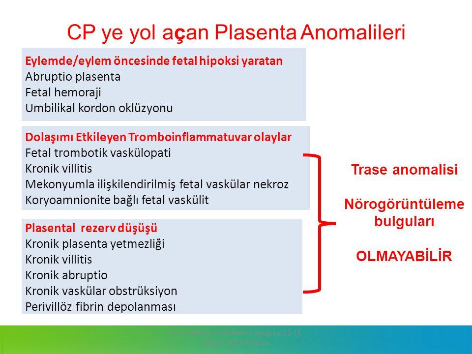 CP ye yol açan Plasenta Anomalileri