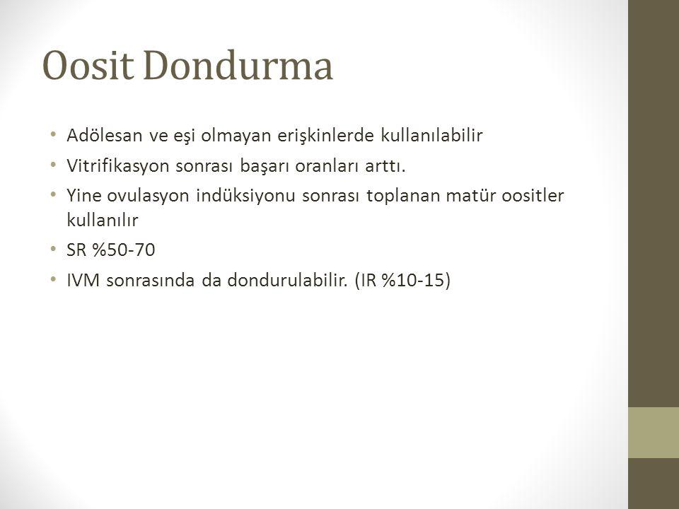 Oosit Dondurma Adölesan ve eşi olmayan erişkinlerde kullanılabilir