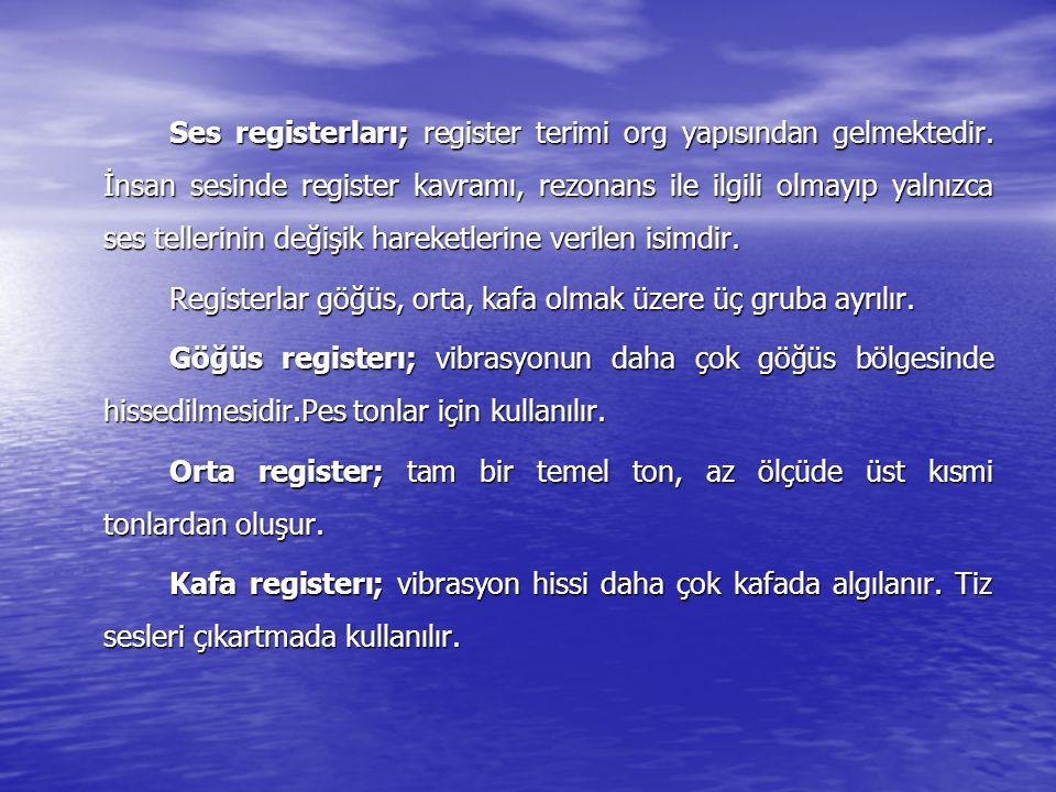 Ses registerları; register terimi org yapısından gelmektedir