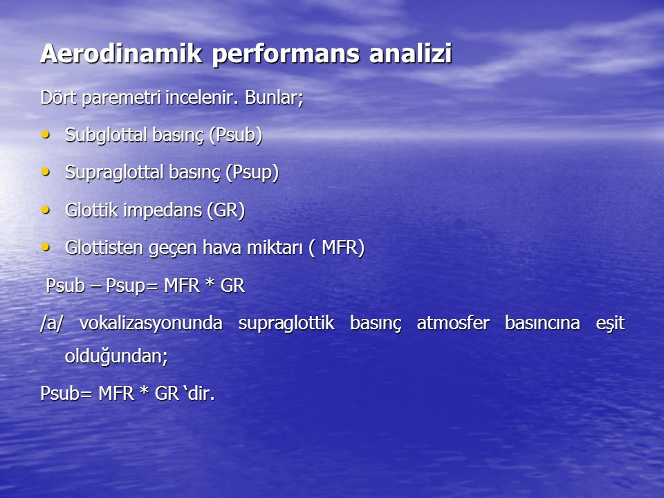 Aerodinamik performans analizi