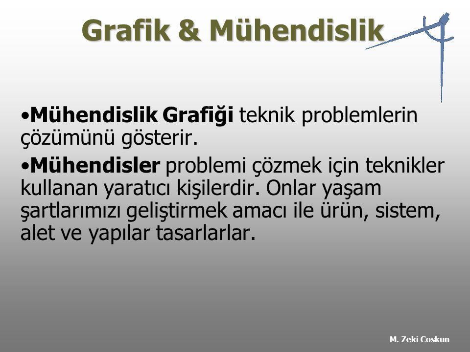Grafik & Mühendislik Mühendislik Grafiği teknik problemlerin çözümünü gösterir.