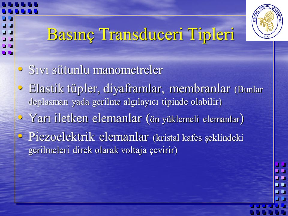 Basınç Transduceri Tipleri