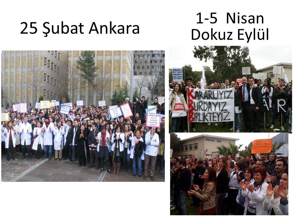 25 Şubat Ankara 1-5 Nisan Dokuz Eylül