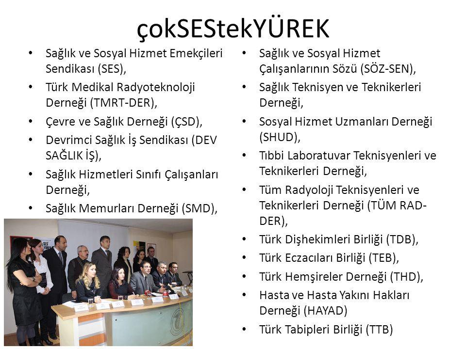 çokSEStekYÜREK Sağlık ve Sosyal Hizmet Emekçileri Sendikası (SES),