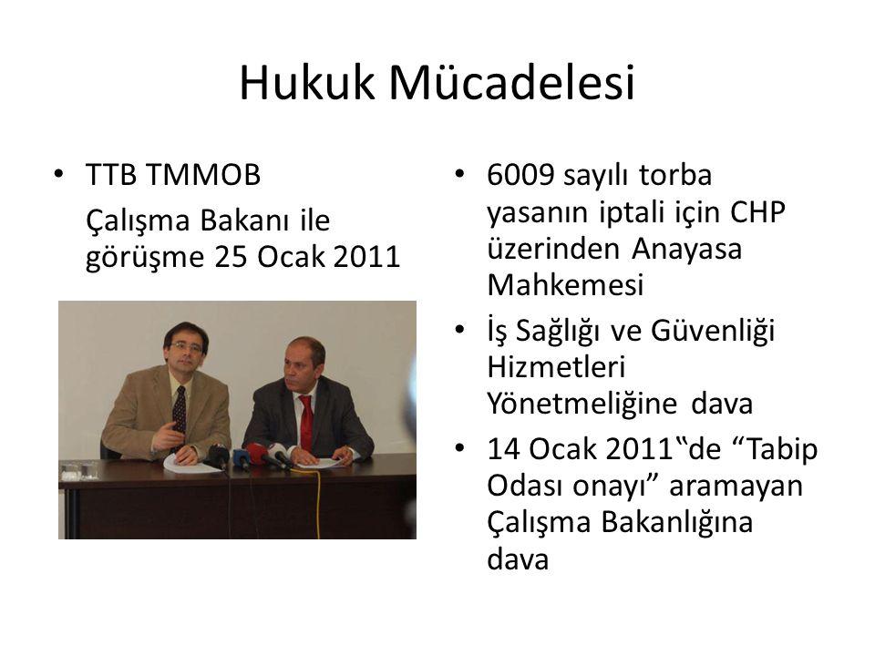 Hukuk Mücadelesi TTB TMMOB Çalışma Bakanı ile görüşme 25 Ocak 2011