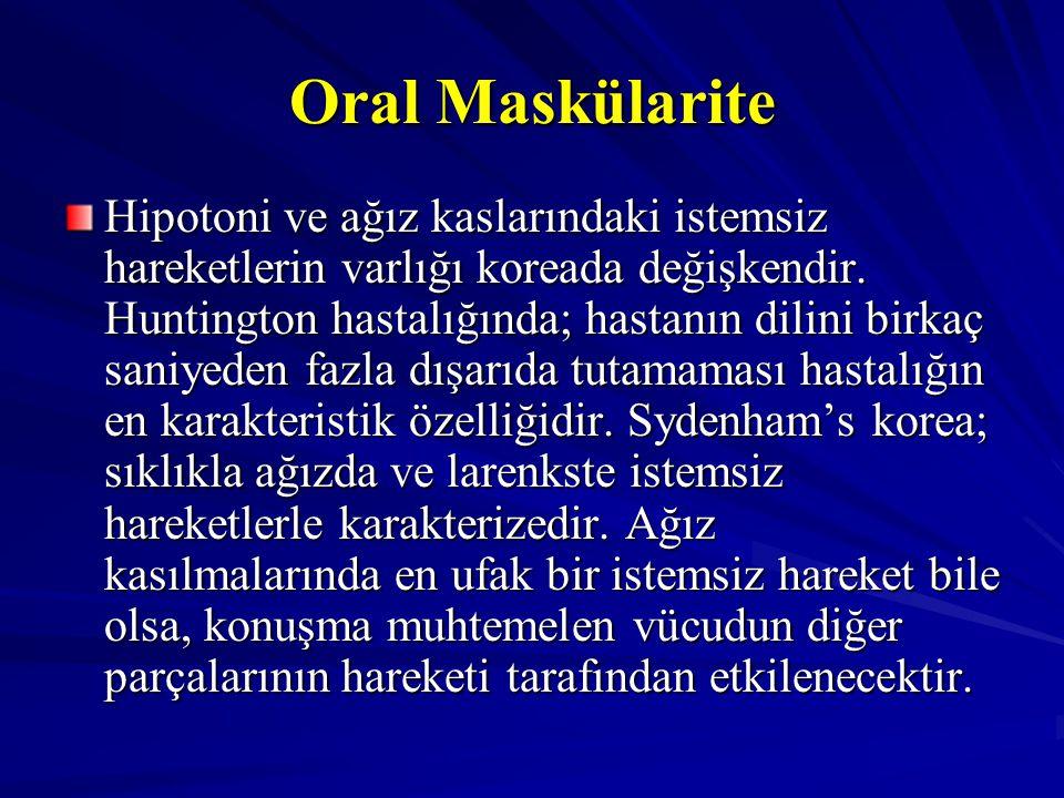 Oral Maskülarite