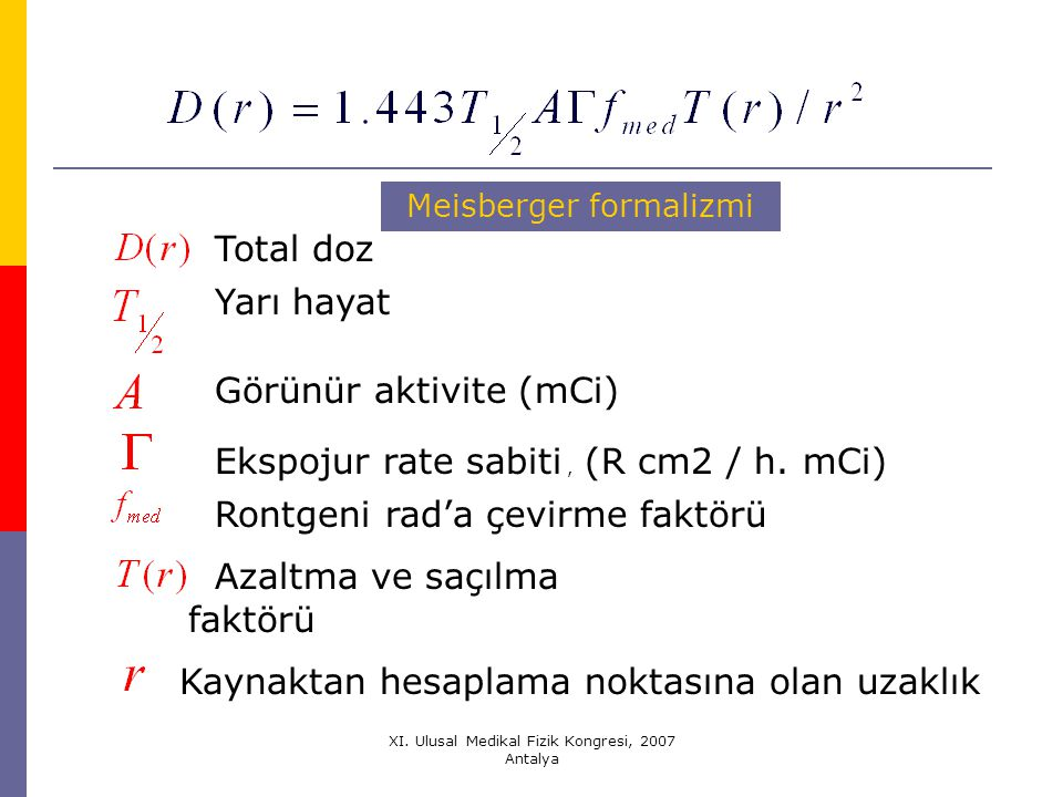 Görünür aktivite (mCi)