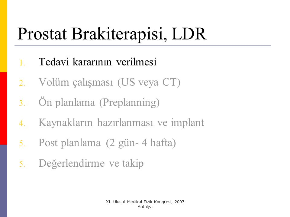 Prostat Brakiterapisi, LDR