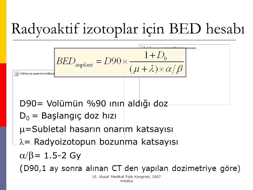 Radyoaktif izotoplar için BED hesabı