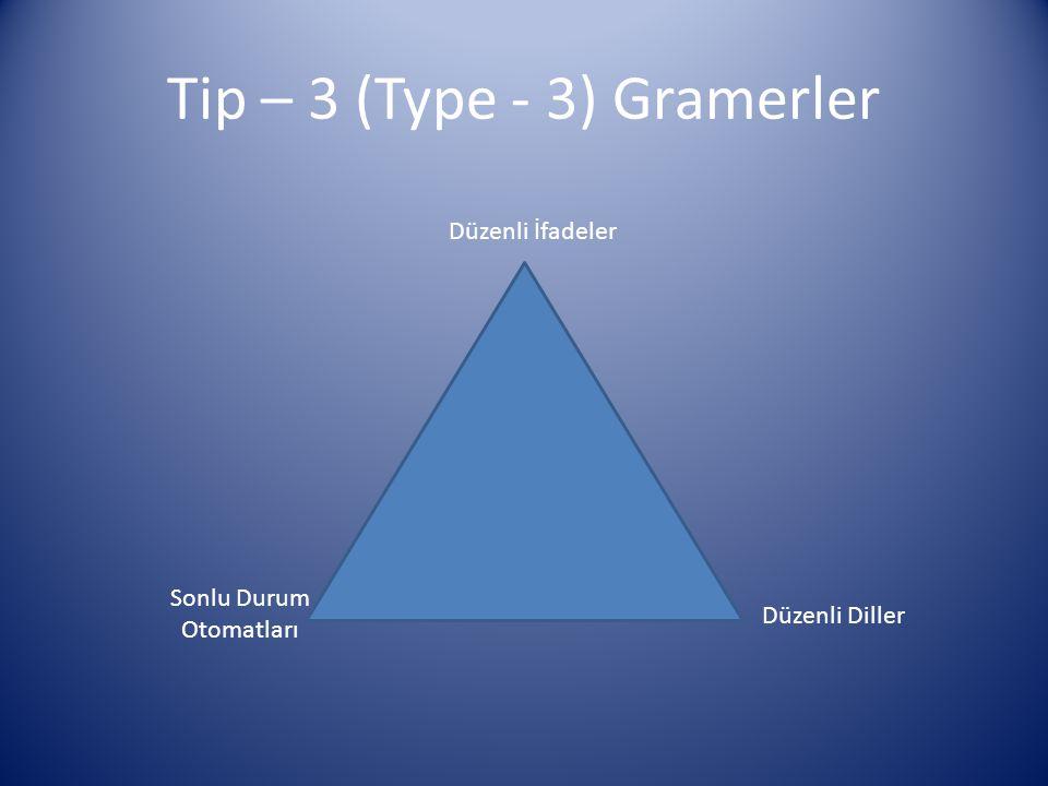 Tip – 3 (Type - 3) Gramerler