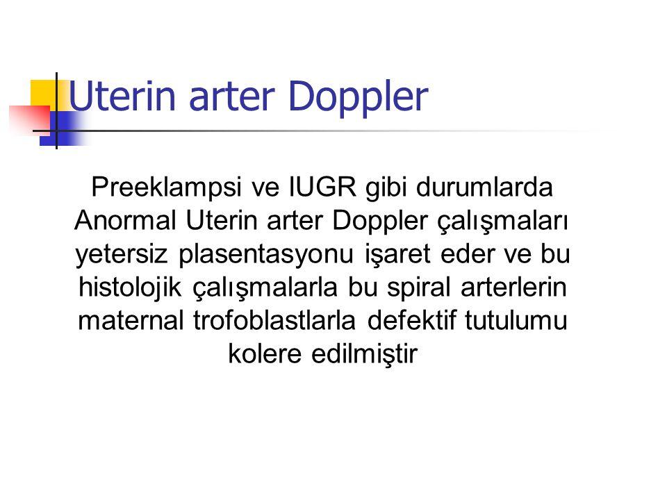 Uterin arter Doppler