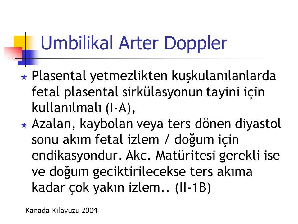 Umbilikal Arter Doppler