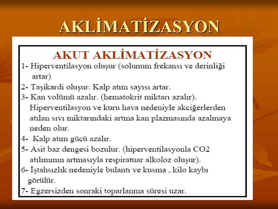 AKLİMATİZASYON Yrd.Doç.Dr.Serkan HAZAR