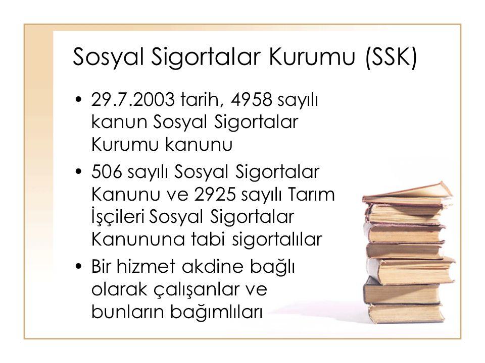 Sosyal Sigortalar Kurumu (SSK)
