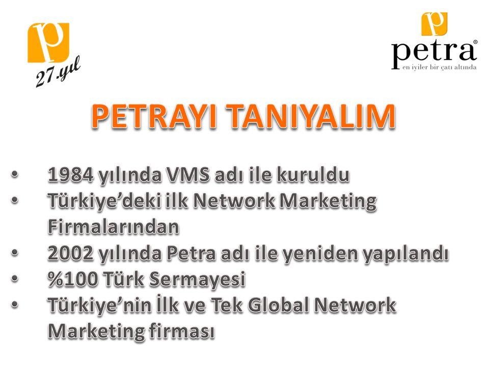 PETRAYI TANIYALIM 1984 yılında VMS adı ile kuruldu