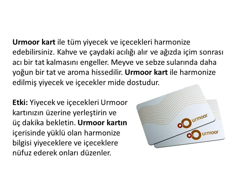 Urmoor kart ile tüm yiyecek ve içecekleri harmonize edebilirsiniz