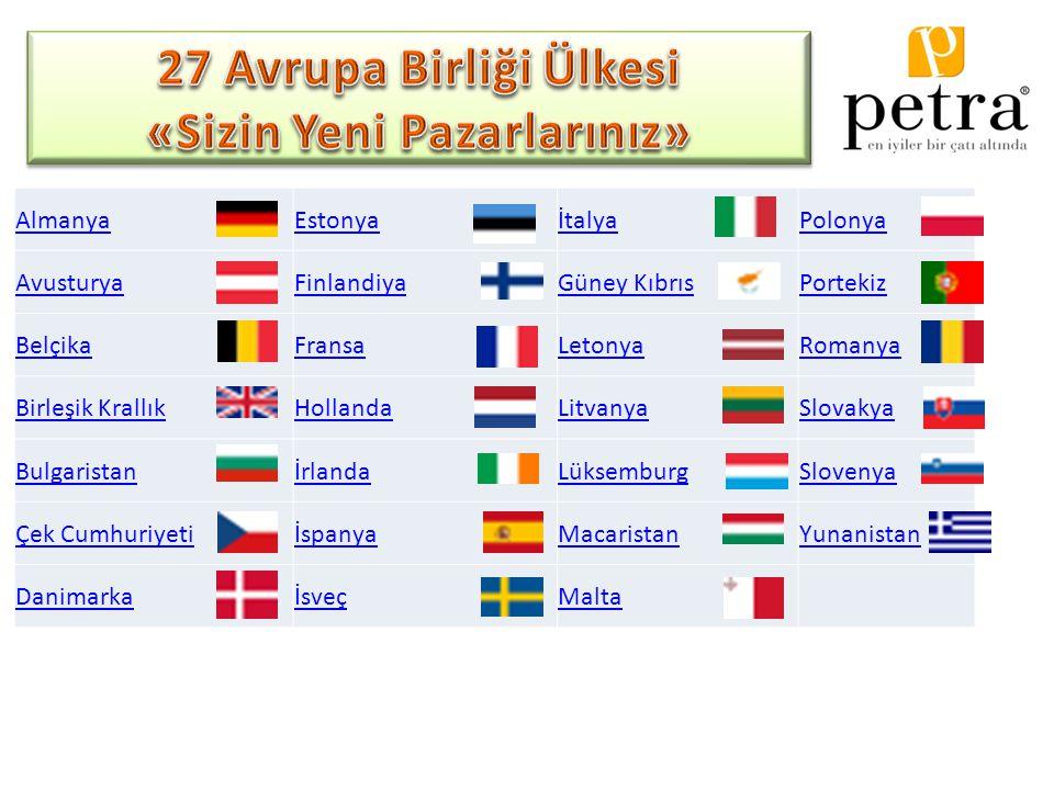 27 Avrupa Birliği Ülkesi «Sizin Yeni Pazarlarınız»
