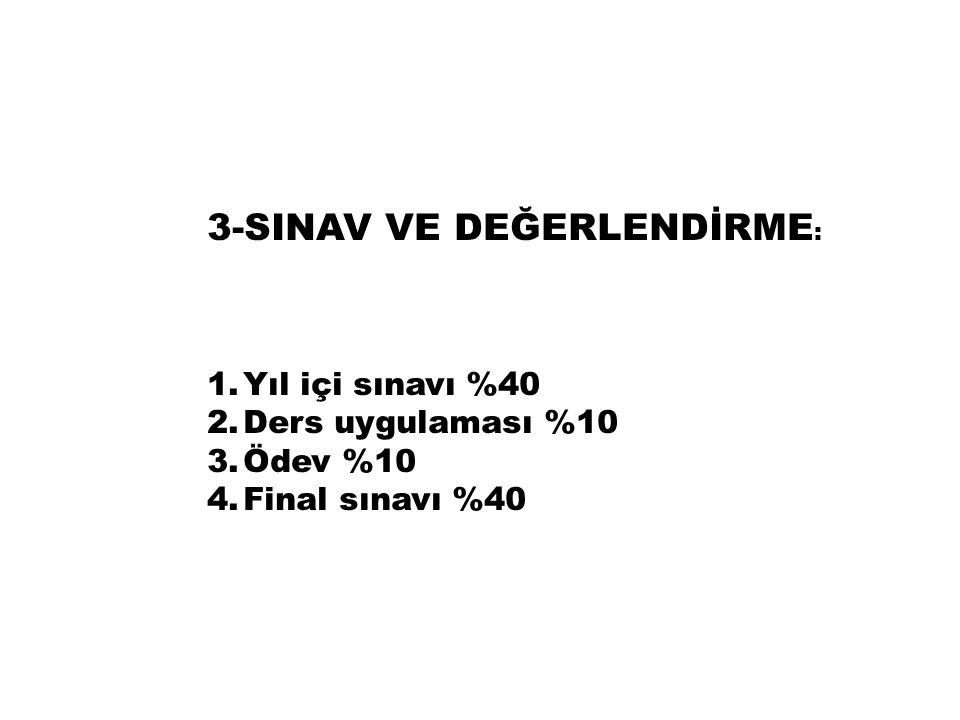 3-SINAV VE DEĞERLENDİRME: