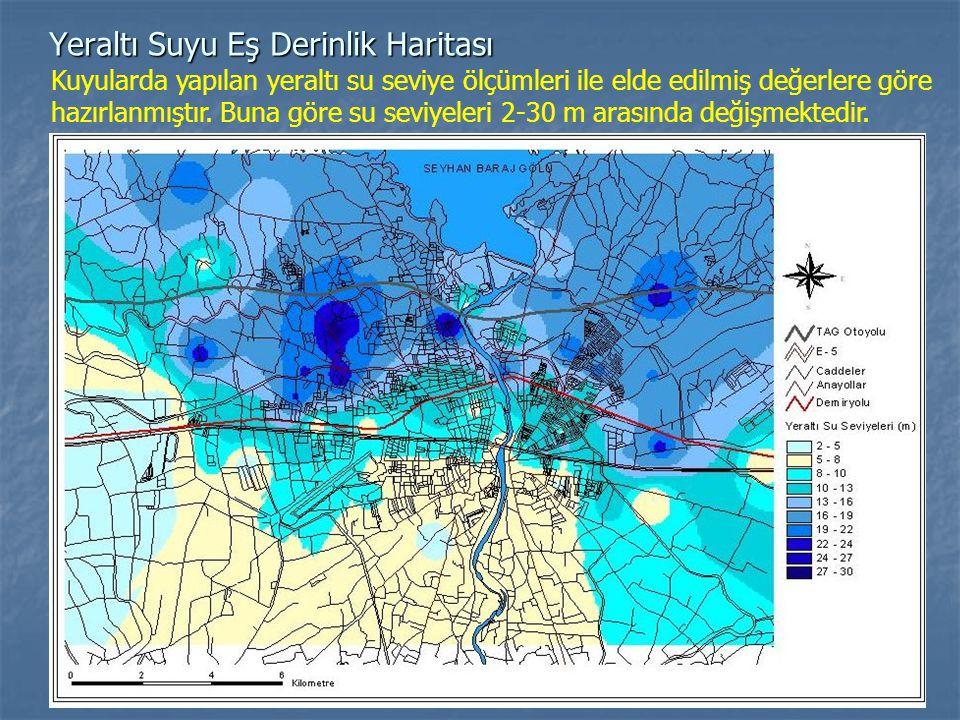 Yeraltı Suyu Eş Derinlik Haritası