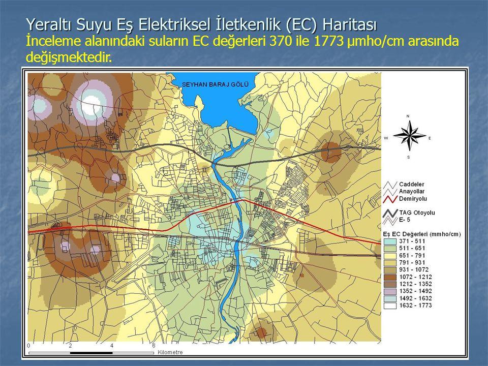 Yeraltı Suyu Eş Elektriksel İletkenlik (EC) Haritası