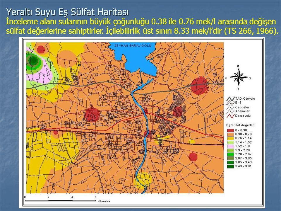 Yeraltı Suyu Eş Sülfat Haritası