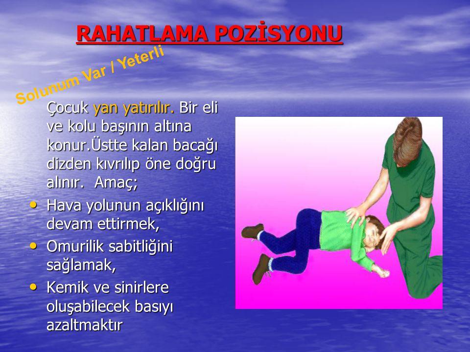 RAHATLAMA POZİSYONU Solunum Var / Yeterli