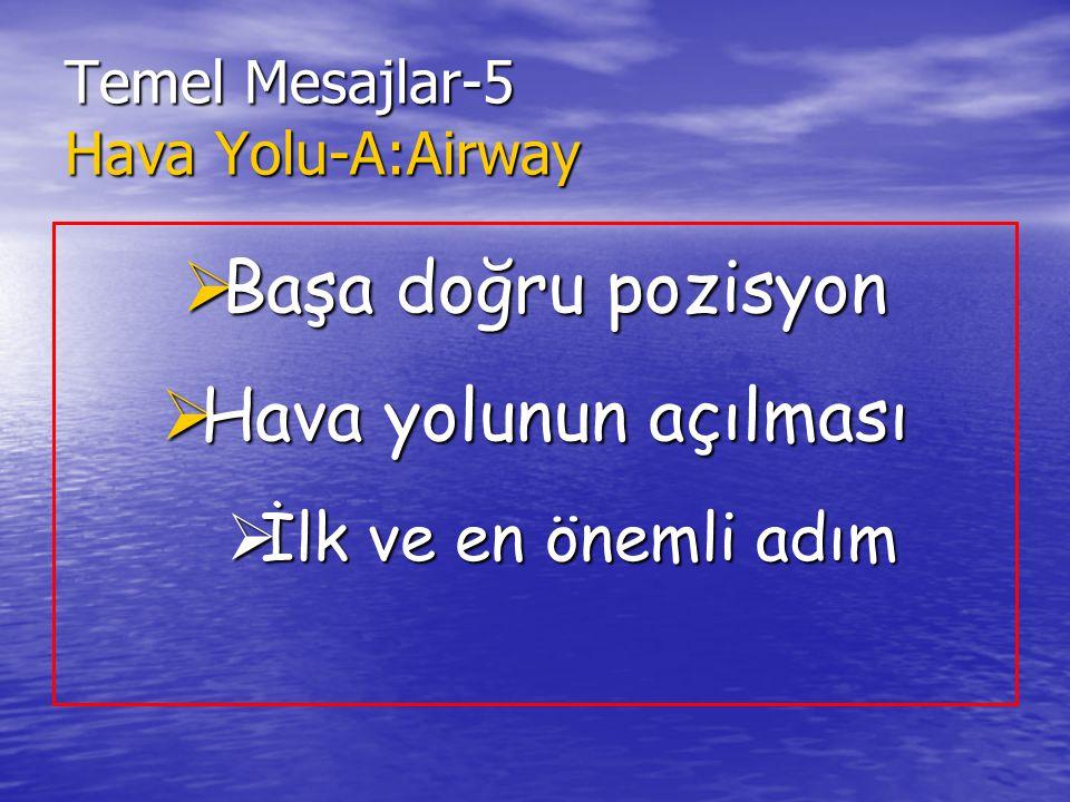 Temel Mesajlar-5 Hava Yolu-A:Airway