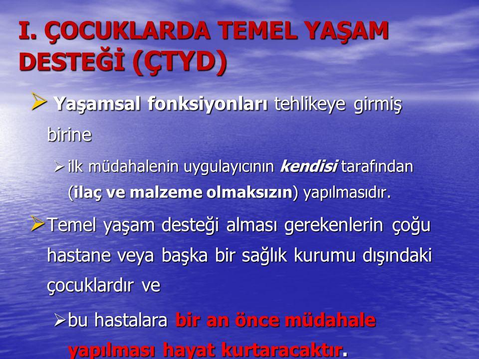 I. ÇOCUKLARDA TEMEL YAŞAM DESTEĞİ (ÇTYD)