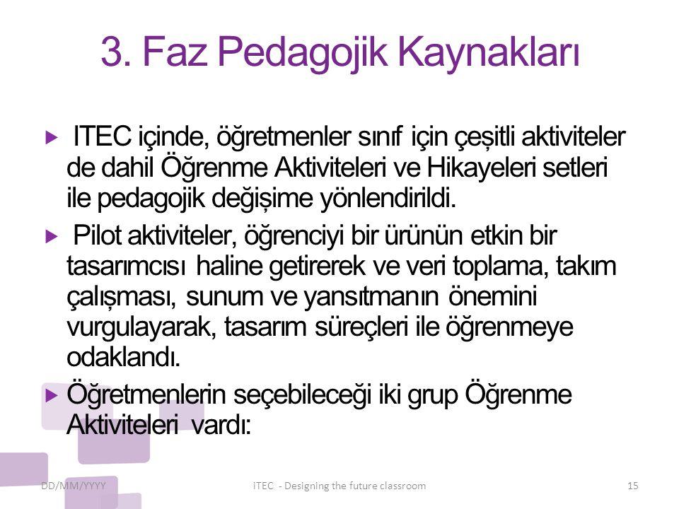 3. Faz Pedagojik Kaynakları