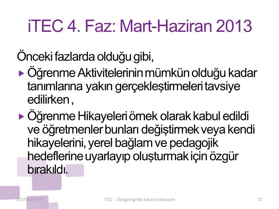 iTEC 4. Faz: Mart-Haziran 2013