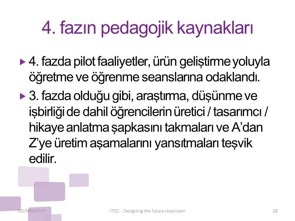 4. fazın pedagojik kaynakları