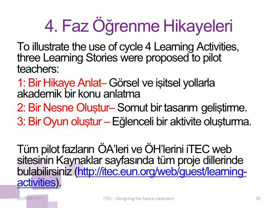 4. Faz Öğrenme Hikayeleri