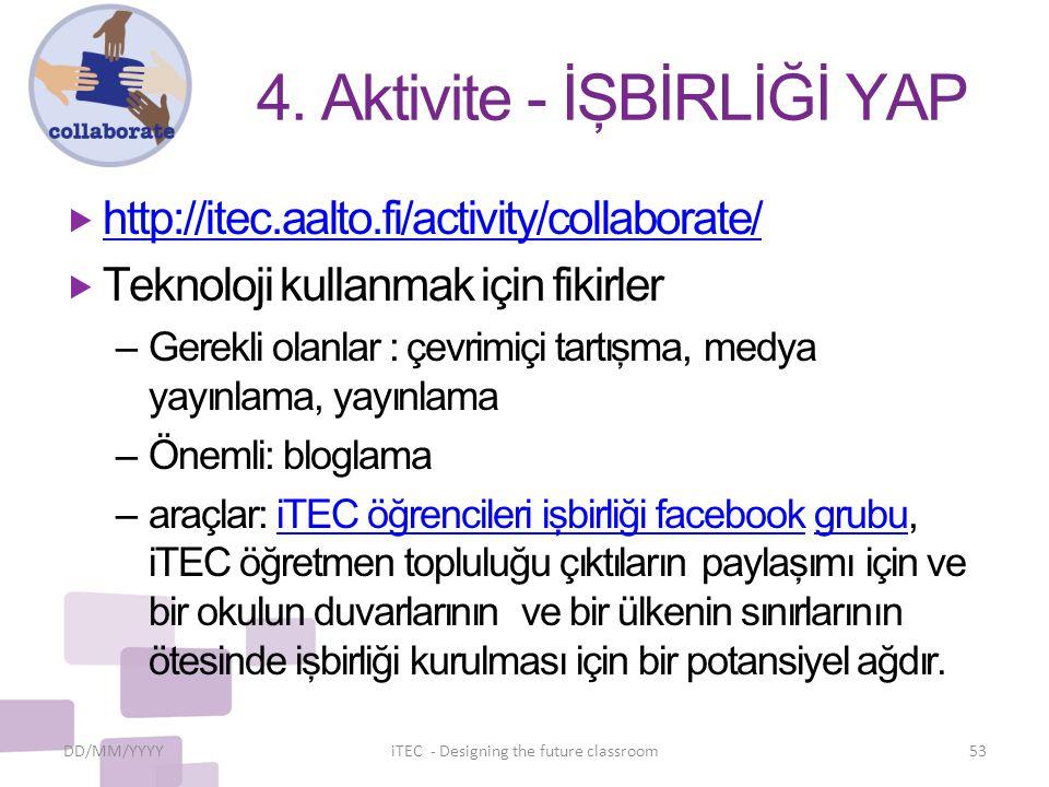 4. Aktivite - İŞBİRLİĞİ YAP