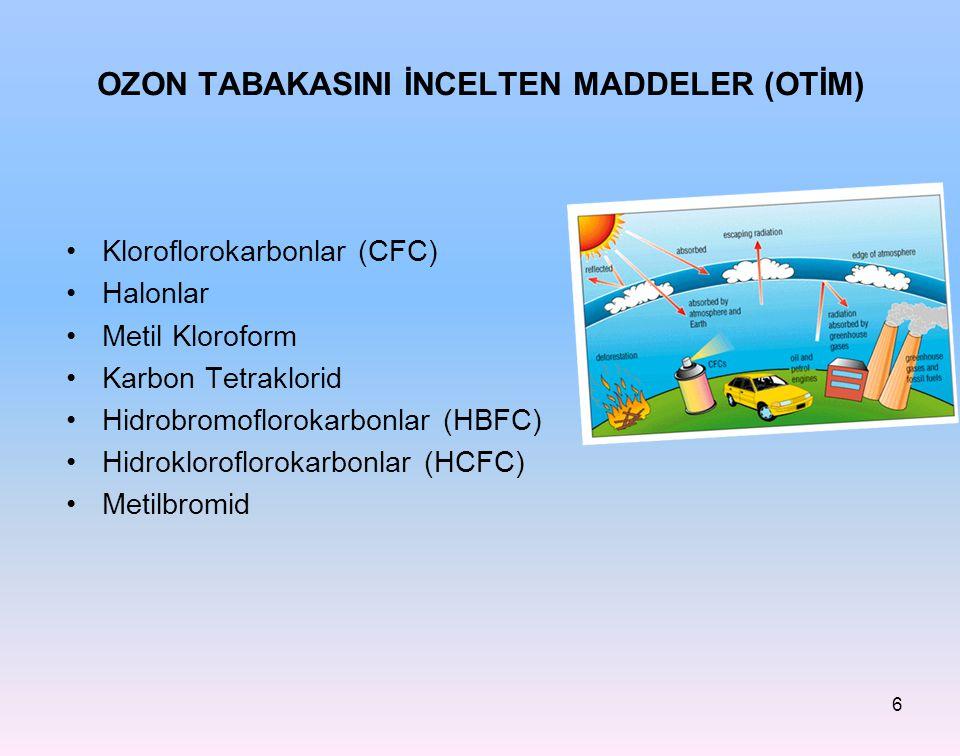 OZON TABAKASINI İNCELTEN MADDELER (OTİM)