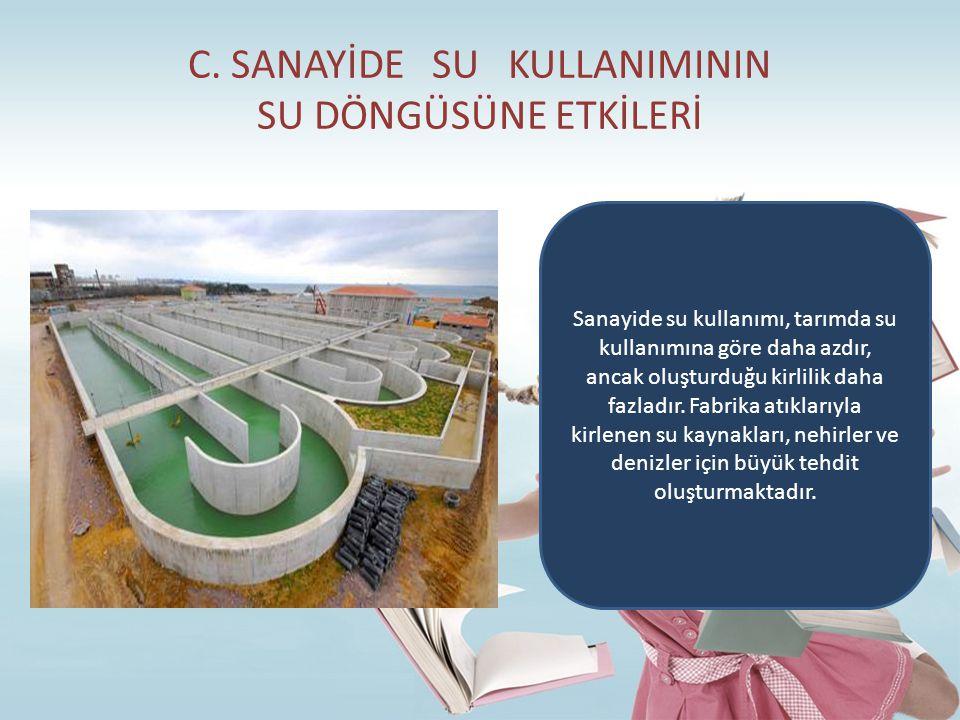 C. SANAYİDE SU KULLANIMININ SU DÖNGÜSÜNE ETKİLERİ