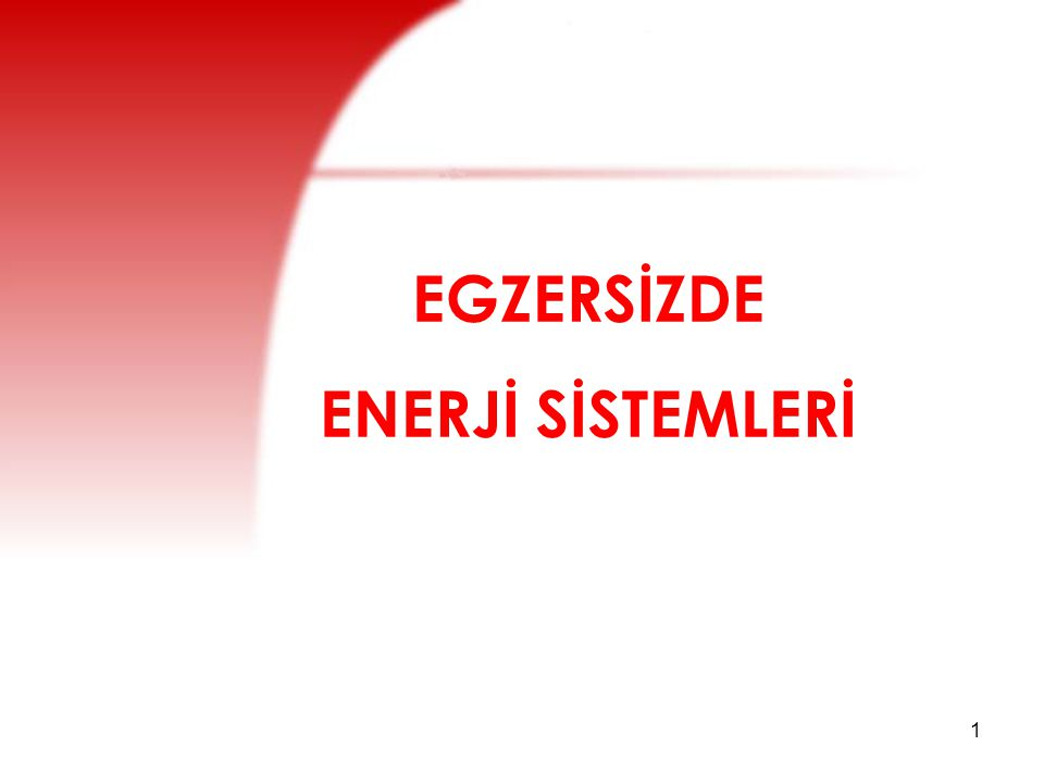 EGZERSİZDE ENERJİ SİSTEMLERİ