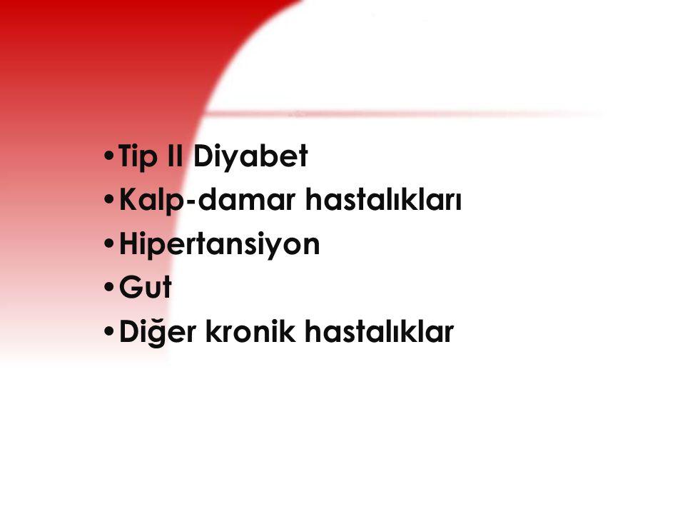 Tip II Diyabet Kalp-damar hastalıkları Hipertansiyon Gut Diğer kronik hastalıklar