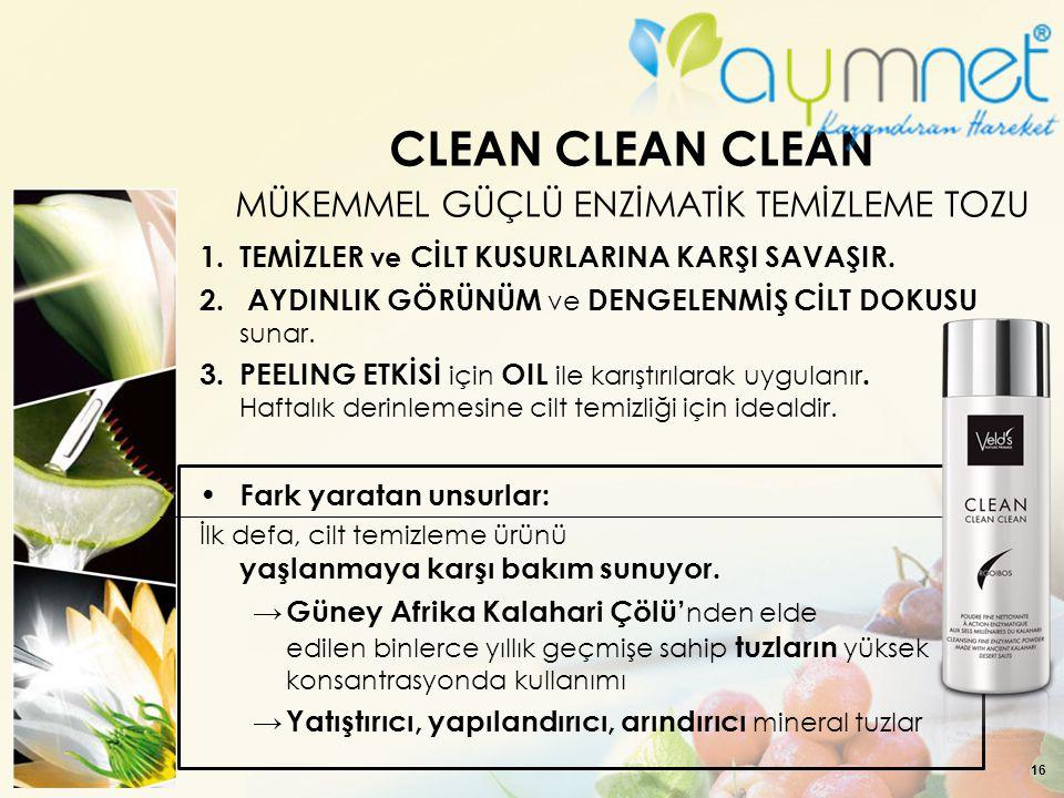 CLEAN CLEAN CLEAN MÜKEMMEL GÜÇLÜ ENZİMATİK TEMİZLEME TOZU