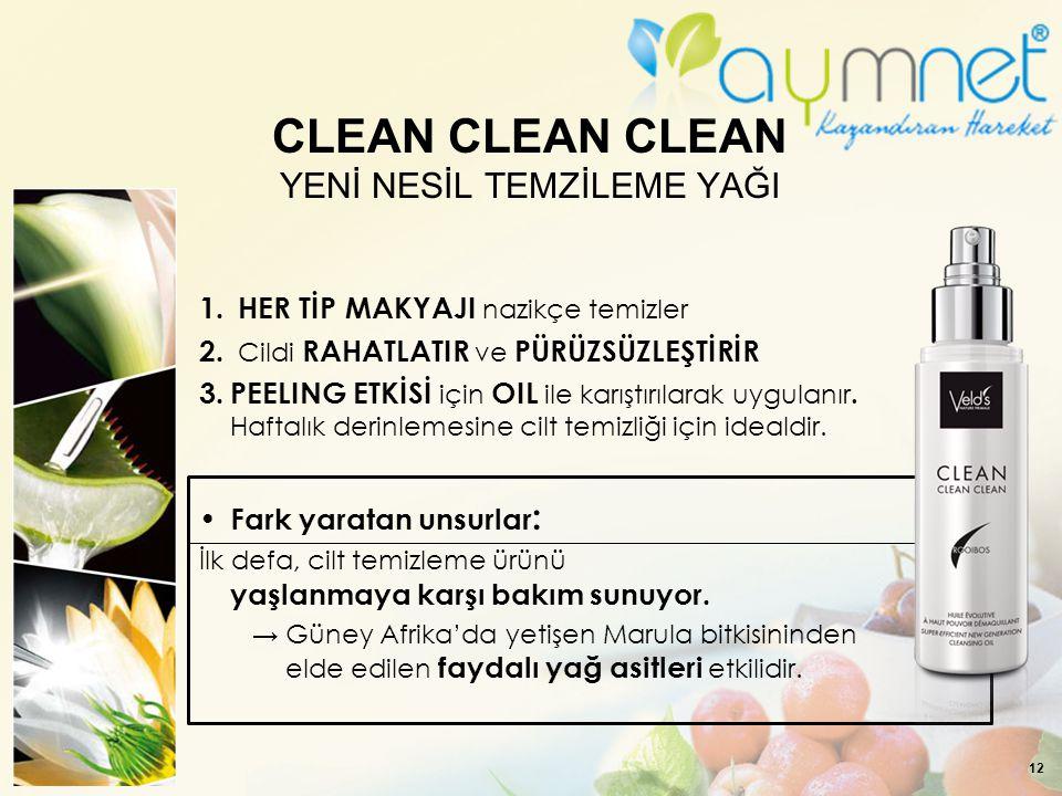 CLEAN CLEAN CLEAN YENİ NESİL TEMZİLEME YAĞI