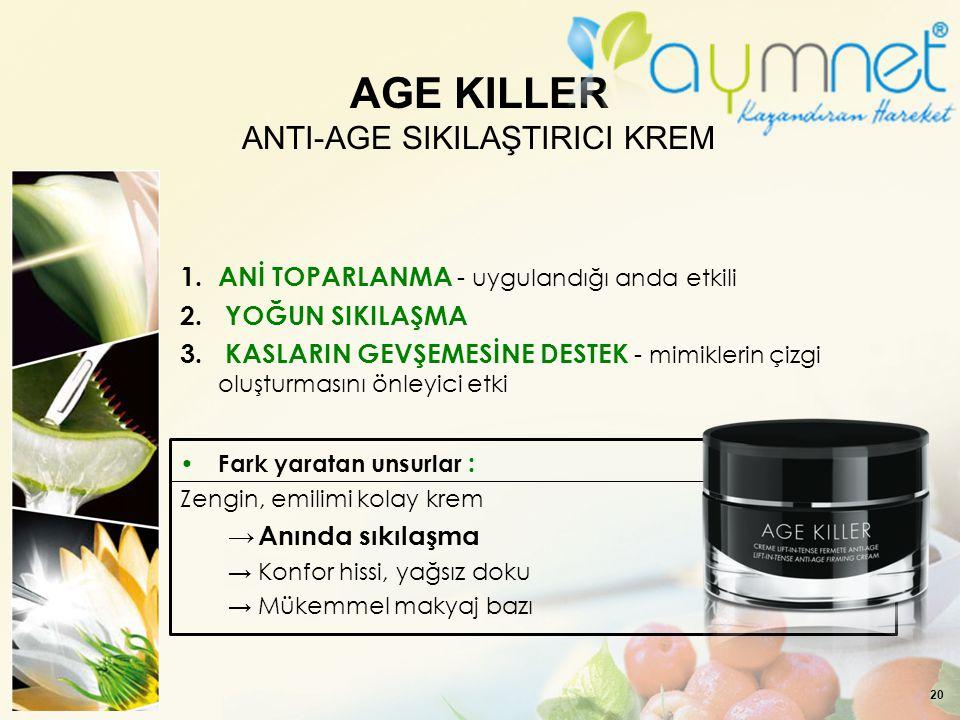 AGE KILLER ANTI-AGE SIKILAŞTIRICI KREM